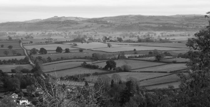 Offa's Dyke from Montgomery Castle
