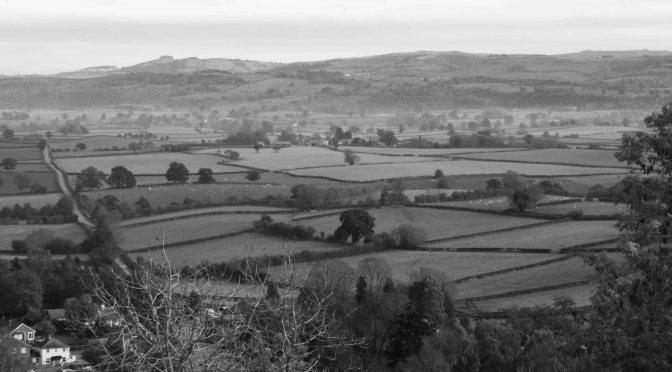 Offa's Dyke from Montgomery Castle