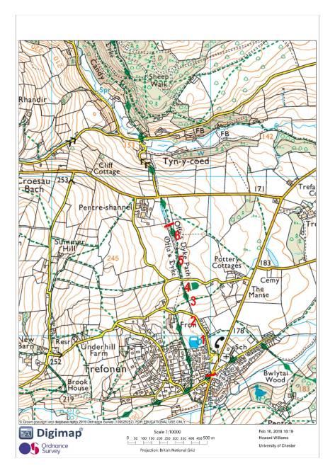 Trefonen map